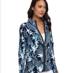 Lilly Pulitzer Leona Good Reef Jacket Size Small